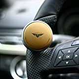 GotoShop Mini Power Handle Steering Wheel Spinner Knob for All Car (Brown)