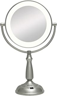 Zadro 10X/1X Next Generation Ultra Bright LED Lighted Vanity Mirror, Satin Nickel