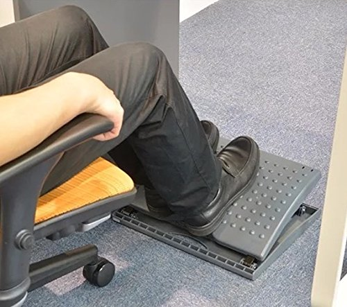 Adjustable Footrest for Home Office, Or Under Desk Ergonomic Massaging Foot Rest (Footstool) (Adjustable Angle)