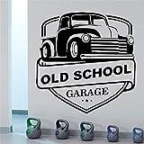 wZUN Escuela Garaje Pared calcomanía Mural decoración gráfica reparación de automóviles Etiqueta de la Pared Vinilo 85X91cm