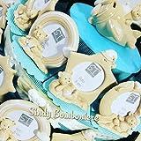 Cajas de peladillas con marco de fotos - Para bautizo de bebé - tartas de dulces