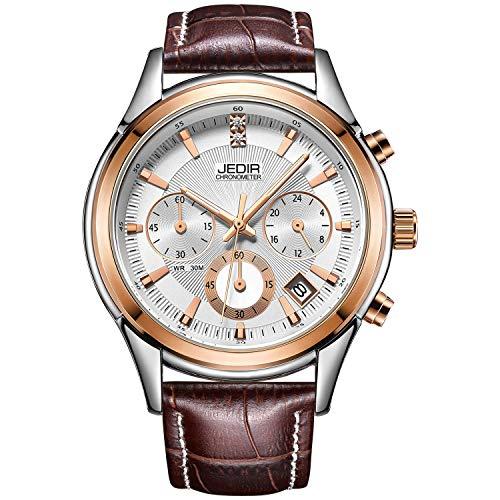 JEDIR orologi da polso elegante casual sport cronografo da uomo al quarzo...
