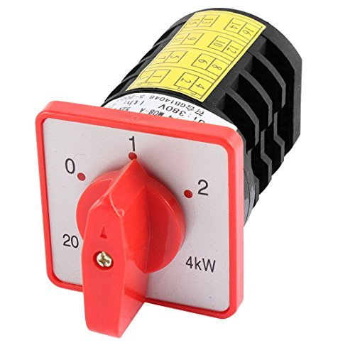 Price comparison product image AC 380V 20A 3 Positions 4 Pole Rotary Selector Cam Changeover Switch