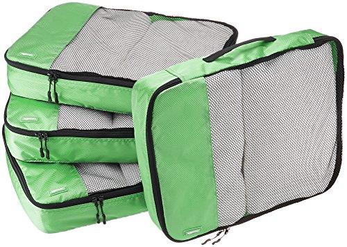 AmazonBasics - Bolsas de equipaje grandes (4 unidades), Verde