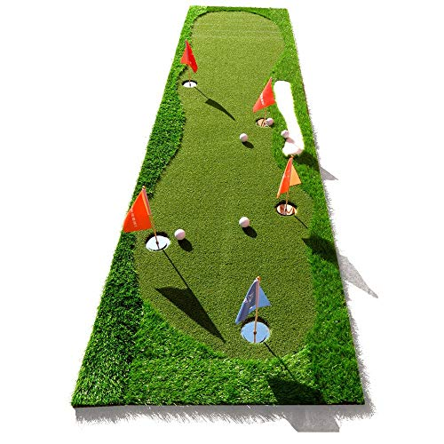 Check Out This Durable Golf Mini Artificial Green Putting Exerciser Indoor/Outdoor with Mini 5 Hole ...