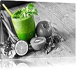 Apfel Limette Kiwi Sellerie Smoothie schwarz/weiß Format:
