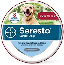 Seresto Flea and Tick Collar for Dogs, 8-Month Flea and Tick Collar for Large Dogs Over 18 Pounds