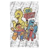 Trevco Sesame Street 123 Sesame Street Fleece Blanket (36x58)