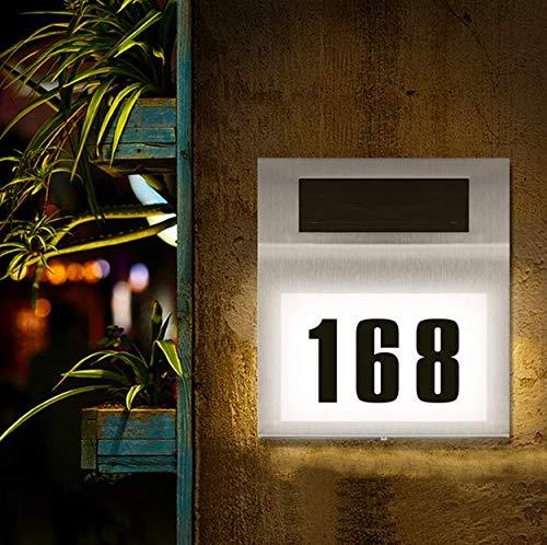 Solar beleuchtete Hausnummer mit,2 LED Solarhausnummer Solarleuchte,IP66