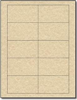 Brown Parchment 65lb Business Cards - 25 Sheets / 250 Business Cards