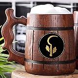 Dungeons & Dragons Druid Beer Mug. D&D Wooden Tankard. Wooden Beer Mug. Personalized Gift For Him. Custom Beer Stein. DnD Gamer Gift. Gift For Husband, Boyfriend Gift #340/0.6L/22 ounces