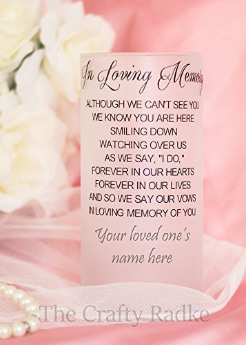 Personalized Memorial Wedding Candle Holder or Vase
