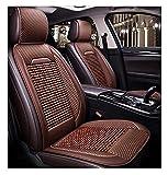 2 PCS Cubiertas de asiento para automóviles individuales, cuentas de madera de verano Pad fresco transpirable Adecuado para todos los automóviles, accesorios de vehículos, 3 colores opcionales