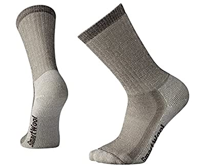 Smartwool Hiking Crew Socks -  Men's Medium Cushioned Wool Performance Sock TAUPE L Unisex