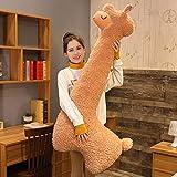 VELIHOME Fluffy Alpaca Toy,Cute Snuggle Buddy Alpaca Long Neck Plush Toy Sofa Pillow Cushion Cartoon Stuffed Dolls(75/100/130CM)