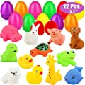 ZLIXING Prefilled Plastic Easter Eggs Filled with Toys Inside Easter Basket Stuffers for Toddlers Baby Boys Girls Kids Teens Easter Gifts