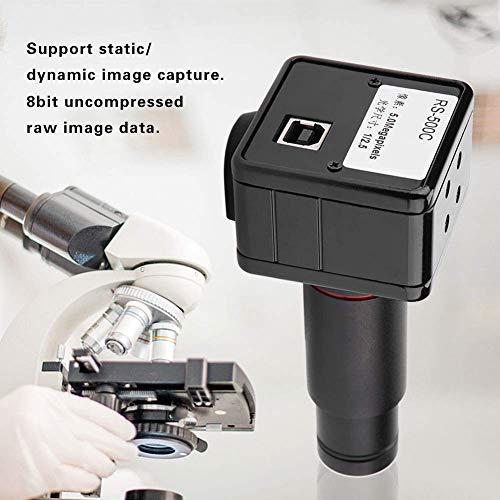 Mikroskopkamera,Industrie Okular Kamera 5MP USB 2.0 Microscope Camera Industriekamera 0.5X-mal CCD-Schnittstellenadapter Schrumpfspiegel,freies Laufwerk,1/2,5 Zoll Farb-CMOS-Bildsensor