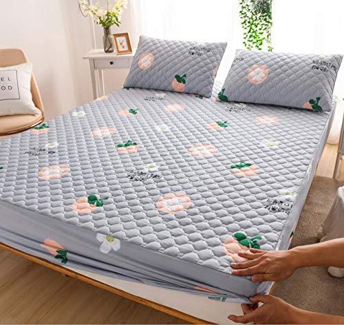 Almohadilla de colchón de tamaño para cama,funda protectora de bolsillo extra profunda,funda de colchón de ajuste acolchado súper suave,adecuada para hoteles familiares compartidos-L_180x200+30cm