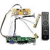 VSDISPLAY HD-MI VGA CVBS USB RF Audio LCD Motor Driver Board Controller Kit Work for 20.1'' 22'' M201EW02 M220EW01 LTM220M1 LTM220M2 1680X1050 4CCFL Backlight 30Pin lvds LCD Panel