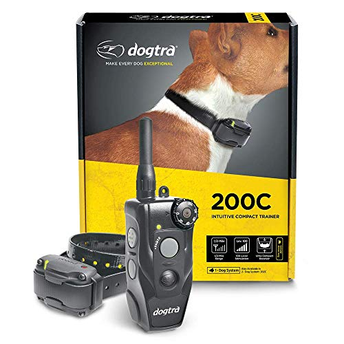 professional dog training collars Dogtra 200C Waterproof ½-Mile One-Handed Operation Remote Training Dog E-Collar