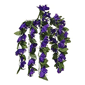 "26"" Hibiscus Purple Hanging Bush Silk Flowers Wedding Bouquets CenterpieceS"