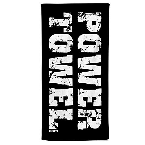 Power Towel das Coole Fitness & Sport-Handtuch mit Einer Botschaft  Verschiedene Motivations-Quotes  Größe 50 cm x 100 cm   POWERTOWEL Handtuch Mikrofaser Baumwolle