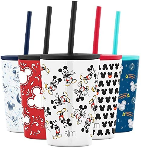 Simple Modern Disney Water Bottle for Kids Reusable Cup with Straw Sippy Lid Insulated Stainless product image