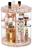 Sorbus Drehbarer Make-up-Organizer, 360 ° drehbar, verstellbar, Karussell-Aufbewahrung für Kosmetik, Toilettenartikel & mehr – perfekt für Waschtisch, Badezimmer, Schlafzimmer, Schrank, Küche (Pink)