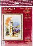 Riolis–Juego de Punto de Cruz Provence Calle, algodón, Multicolor, 18x 24x 0.1cm