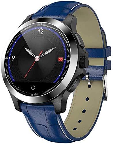 Reloj inteligente deportivo IP67 resistente al agua con EKG + PPG monitor de frecuencia cardíaca Fitness Tracker para Android 4.4 Ios8.0, compatible con Bluetooth 4.0-C.