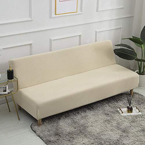 Eantpure Juego de sofás de Color sólido, elástico Grueso, sin Soporte, Juego de sofá Cama, Funda de sofá Universal con Todo Incluido-Beige_Large (190-225cm)