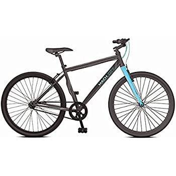 Mach City Munich Single Speed 700X35C Stylish Sporty Black & Blue Steel Bike/Bicycle