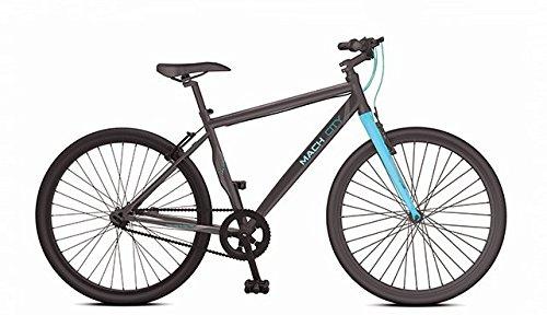 Mach City Munich Single Speed 700X35C Stylish Sporty Black & Blue Steel Bike/Bicycle