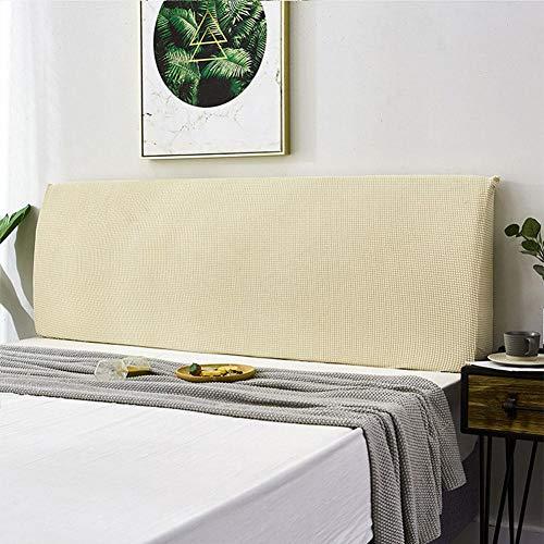Buding Funda protectora contra el polvo para cama, elástica, suave, cubierta para el respaldo de la cama
