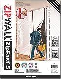 ZipWall zf10Panel antipolvo reutilizable, Transparente, ZF5