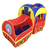 KooJooe Waterproof Foldable Pop Up Indoor and Outdoor Large Space Train Play Tent/Play House/Toys as a Birthday for 1-8 Years Old Kids/boy/Girls/Baby/Infant
