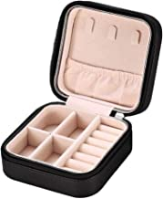 Bciou Portable Vrouwen Lederen Sieraden Doos Organizer Display Sieraden Rits Opslag