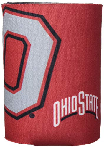 Logo Brands NCAA Ohio State Buckeyes Flat Coozie, One Size, Team Color