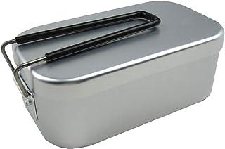 ZAYAR 飯ごう 飯盒 正規品 アルミ メスティン キャンプ用品 アウトドア炊飯 弁 当箱 調理器具 バフ研磨済み 焼く/煮る/蒸す/炊く/燻す 万能な野外用食器