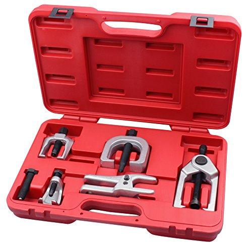 Kauplus 5PCS Front End Service Tool set Separate Pitman Arm Puller Kits Tie Rod Remover Tool Set Ball Joint Separator Tools by Kauplus