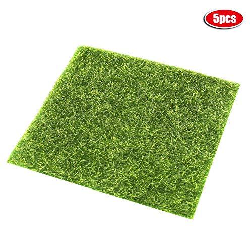 Acouto Simulierter Rasen, Simulations-Rasen-Rasen-grünes kleines Gras DIY kreative fleischige Landschaftsgestaltungsdekoration-Kunstrasen-Matte-Garten-Fälschungs-Rasen-Moos-Plastikrasen