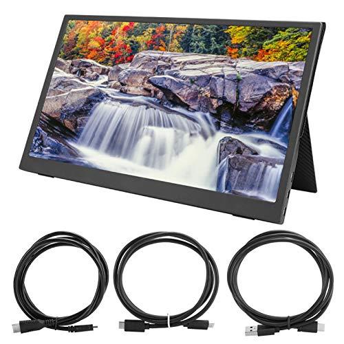 Monitor Portátil, Pantalla IPS Portátil de 15,6 Pulgadas 2K para Juegos en la Misma Pantalla para Juegos de Xbox para Computadora y Teléfono Inteligente