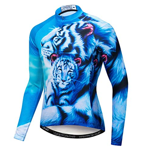Invierno Hombres 3D Ciclismo Jersey Ropa Camisas MTB Bicicletas Ropa Ciclismo Ropa de Secado Rápido Camisa Deportes Para Bicicleta Jerseys CD8228 M