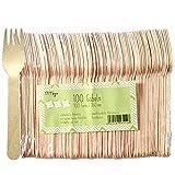 Pritogo Cubiertos de madera (100 tenedores)
