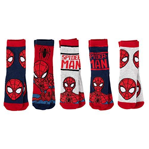 United Labels Spiderman - Kinder Socken 5er Pack Jungen, Kind Kleinkind Sneaker (35/38)