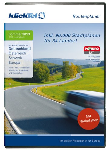KlickTel Routenplaner 2013 Sommer PC [Importación alemana]
