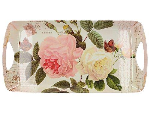 Creative Tops Rose Garden Kleines, luxuriöses Serviertablett aus Melamin, 38,5 x 20 cm (15 x 7¾ Zoll)