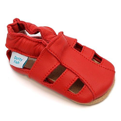 Dotty Fish zachte lederen baby sandalen met suede zolen. Peuter sandalen. Jongens en meisjes. 0-6 maanden tot 3-4 jaar.