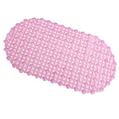 Amacoam Badmat, antislip, met zuignappen, antibacterieel, voor baby's en kinderen, pvc, roze 66 x 37 cm