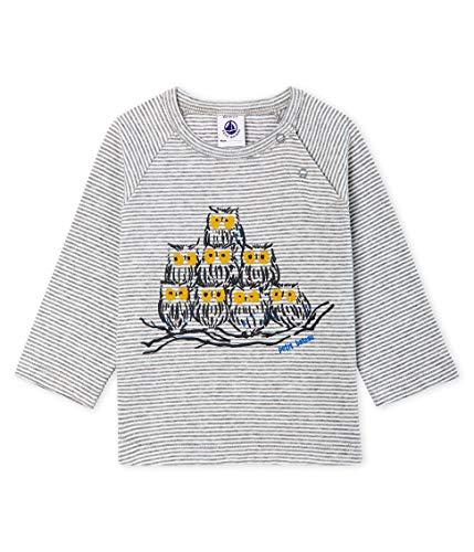 Petit Bateau Tee ML_5062901 T-Shirt À Manches Longues, Multicolore (Subway/Marshmallow 01), 98 (Taille Fabricant: 36M/95centimeters) Bébé garçon